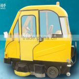 HK-1250C electric rear loading garbage truck ride-on floor scrubber sanitation cleaning trucks