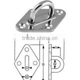 marine hardware eye plate diamond