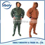 Custom made waders full body for sewage works being used as waterproof work wear overalls for men