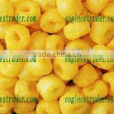 China golden ring puff corn snack food making line machine equipment processing line/production plant