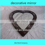 Living Room Ruby Heart Shape Wall Craft Crackle Glass Mosaic Art Deco Mirror