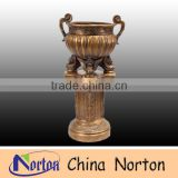 factory supply bronze metal garden flower pot NTBF-FL104S