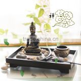 Fengshui resin buddha zen decorative tealight candle holder