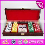 100 Pcs Wooden Poker Chip Sets casino set KT29116