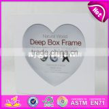 Best selling heart shape wooden square photo frames W09A026