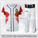 2016 new design custom sublimation printing youth baseball pants and jerseys
