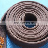 high quality judo gi belts brown color 100% cotton bjj gi kimono belts