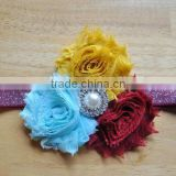 Hot Selling Style Fashion Sparkle Pearl Rose Baby Flower Headband