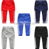 high quality 100% cotton school children age 4-14Years kids jogging pants/cheap custom design kids sports track pants