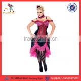 Plus size burlesque fancy dress costume for lady PGWC3640