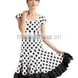 Latin Dance Latin dance costume girls dress polka dots beaded fashion sexy Latin dance costumes suit