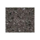 Customized Crystal Shining Dark Grey Quartz Stone Countertops for kitchens