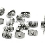 Silver Tone Stainless Steel Butterfly Earrings Backings,Earrings Back Stoppers/Holders,Stainless Steel Earring Plugs