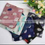 China supplier wholesale cheap voile infinity printed american flag scarf