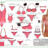 New arrival hotsale sexy beachwear bikini and sexy swimwear made in China