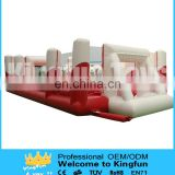 Customzied inflatable football playground with floor