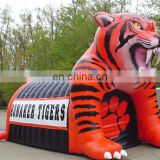 giant inflatable tiger football tunnel inflatable sport event entrance tunnel