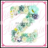Aidocrystal Luxury wedding decoration blue green customized letters flower wall backdrop