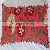 Red Colors Suzani Embroidered Work Pillow Cover New Decorative Cushion Covers