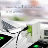 PowerFalcon 25W Smart 2(USB-A) +1(USB-C) port Charger, 3 USB output, one USB type-C port , two USB-A ports, Foldable AC