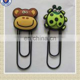 custom logo flat metal paper clip wholesale