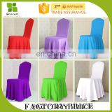 Hot selling white pleated chair cover for wedding