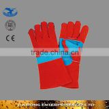 "14""/16"" long length importer of cow split leather working gloves manufacture LG035"