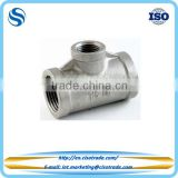 Threaded equal reducing tee Class 150 conform to ASTM A351 cast pipe fitting