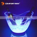 Popular transparent 8L champagne ice bucket led