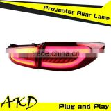 AKD Car Styling MAZDA 6 LED Tail Light New MAZDA6 Tail Lights 2014 Rear Trunk Lamp DRL+Turn Signal+Reverse+Brake