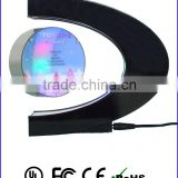 C shape magnetic floating photo frame made by acrylic with white LED for gift or home decoration