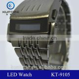 All stainless steel material quality metal lcd display watch stainless steel back sprot watch