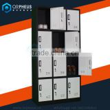 Promotional Supermarket Storage Locker Multi-door storage Cabinets With Double Keys Cusumers Temporary Storage Cabinet