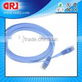 32AWG Cat6 550MHZ UTP Flat Ethernet Bare Copper Network Cable, Blue