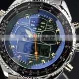 Brand New mens analog digital wrist watch alarm sport quartz watch WM007-ESS