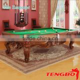 "Tengbo Customized ""The Emperor"" style Solid wood carved pool billiards table"