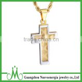 Cross Necklace Gold Plated Stainless Steel Simple Cross Pendant Chain From for Women And Men