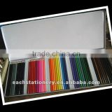 YIWU BSCI factory audit, 50pcs tip top artists kids color pencil set in metal pencil case