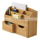 Chinese supplier Bamboo Office Desk Organizer for stationery holder