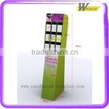 Jewelry display floor stands nail polish floor standing rack display cardboard floor display