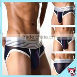 Black Color innerwear Full Cotton Underwear New Design Transparent brief for men