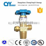 factory stock superior 1/8 '' brass mini gas valve lpg gas cylinder valve with red level handle in Oujia valve