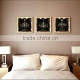 2016 Vintage Style Linen Canvas Print Light Modern Canvas Wall Art living room decoration 3 pannel set