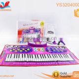Electronic musical baby play mat piano shaped baby mat large baby play mat child play mat