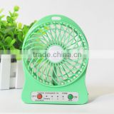 High Efficiency Rechargeable Led Plastic Mini Fan Lithium Battery USB Fan Air Conditioning For Home School Office 5 colors