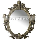Cheap resin round framed mirrors decorative wall hang round mirror                                                                         Quality Choice