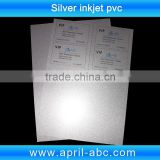 light silver inkjet pvc plastic sheet id card material