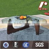 raw wood table,glass top coffee table,wood base table CT-010