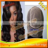 High quality Brazilian human hair Silk Top wigs glueless Full Lace wig,nice body wave with baby hair,natural hairline HOT!!!
