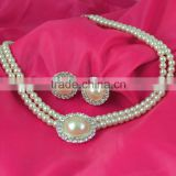 2015 new Yiwu jewelry factory bridal pearl necklace sets minimalist sets of chain jewelry Korean wedding dress accessories Brida